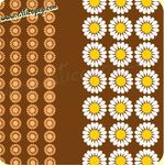 Coupon de toile Vintage DAISY BROWN 73  - 500 x 115 cm