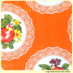 Toile cirée Mexicaine CARPETAS Orange vif