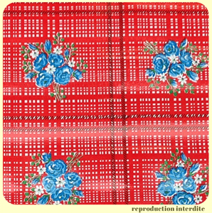 Toile cirée Mexicaine RAMITOS Rouge