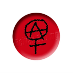 Petit badge - Anarcho-féminisme - Rouge
