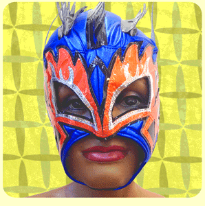 Masque de lutteur Mexicain - FIRE DRAGON