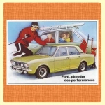 Carte postale - Ford Cortina - Ford, pionnier des performances