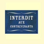 Carte postale - n° P10 - INTERDIT AUX CONTREVENANTS