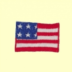 Patch brodé à coudre - Modèle US FLAG TINY n°29