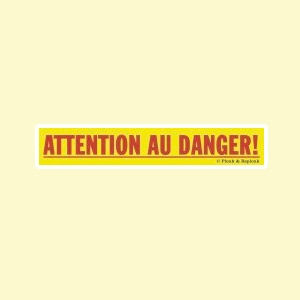 Autocollant 17,2 x 3,5 cm - n°04 - Attention au danger