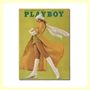 Carte postale dépliante PLAYBOY - April '70