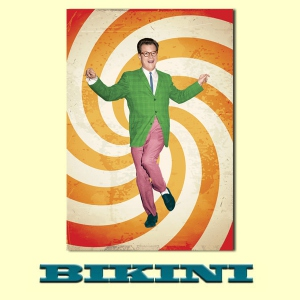 Carte postale BIKINI - Twisting guy with green blazer