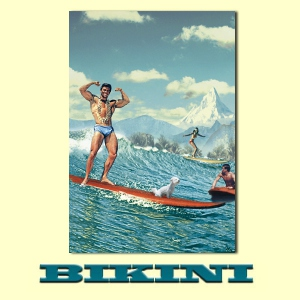 Carte postale BIKINI - Surfing with Struppi