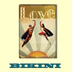 Carte postale BIKINI - Superheroes in Love