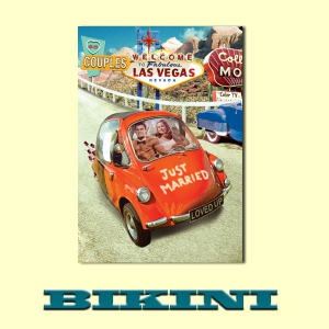 Carte postale BIKINI - Just married