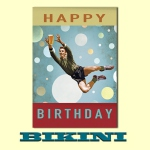 Carte postale BIKINI - Happy Birthday Goalkeeper !