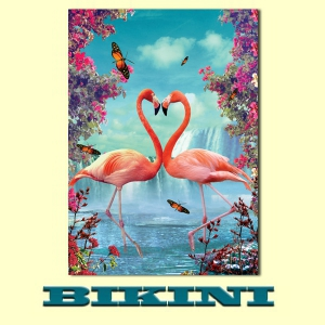 Carte postale BIKINI - Flamingo's Heart
