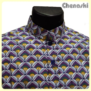 Chemise col mao motif CANDLE