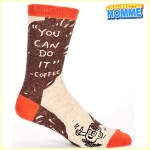 "Chaussettes homme BlueQ - ""You can dot it"" - Coffee*"