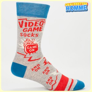 Chaussettes homme BlueQ - Video Game Socks - Game o, and on, and on, and on....
