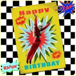 Carte postale dépliante ZAP n°04 - Happy Birthday ROCKET-MAN
