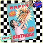 Carte postale dépliante ZAP n°09 - Happy Birthday - Make some noise*