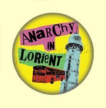 Badge ou Aimant - Anarchy in Lorient - Fond jaune