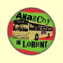 Badge ou Aimant - Anarchy in Lorient - Fond rouge