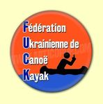 Badge ou Aimant - F.U.C.K. : Fédération Ukrainienne de Canoë-Kayak - Fond orange