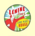 Badge ou Aimant - Lénine 3-en-1 lave plus rouge