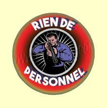 Badge ou Aimant - Rien de personnel