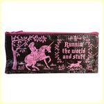 "Trousse à crayons (ou autres trucs) - Modèle LICORNE ""Running the World and stuff*"""