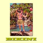 "Carte postale BIKINI - Hula boy ""Birthday Boy"""