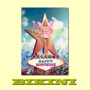 "Carte postale BIKINI - Welcome Fairy ""Happy Birthday"""
