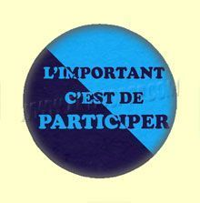 Badge ou Aimant - L'important, c'est de participer