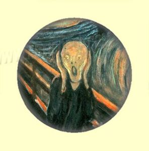 Badge ou Aimant - Edvard Munch - Le Cri