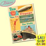 Carte postale dépliante Last Gasp n°06 - Bon voyage - Flying away - New worlds