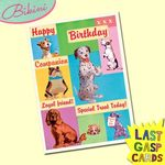 Carte postale dépliante Last Gasp n°07 - Happy Birthday companion - Loyal friend - Special treat today