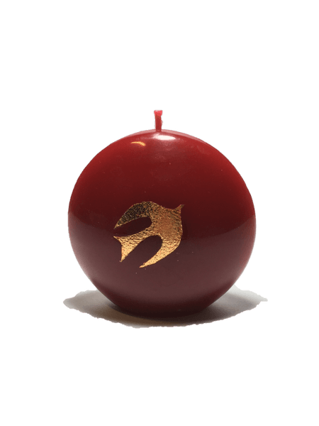 Bougie Disc Petite colombe rouge