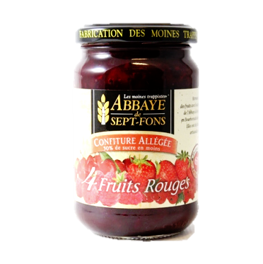 Confiture allégée de 4 fruits rouges