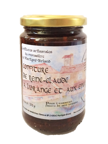 Confiture de Reine-Claude à l'orange et aux épices