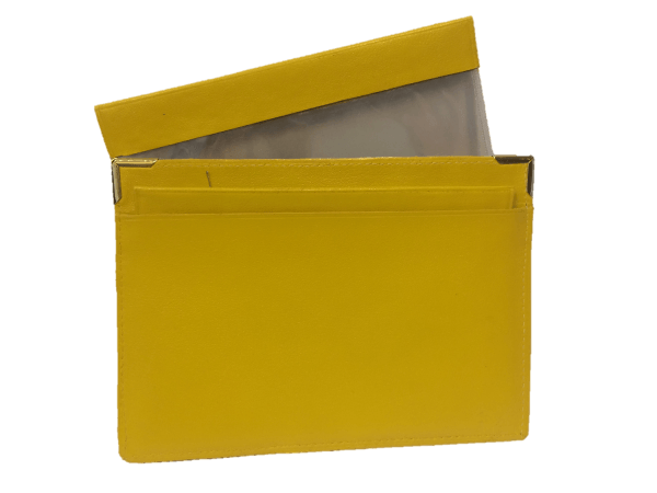 Porte-documents de voiture jaune