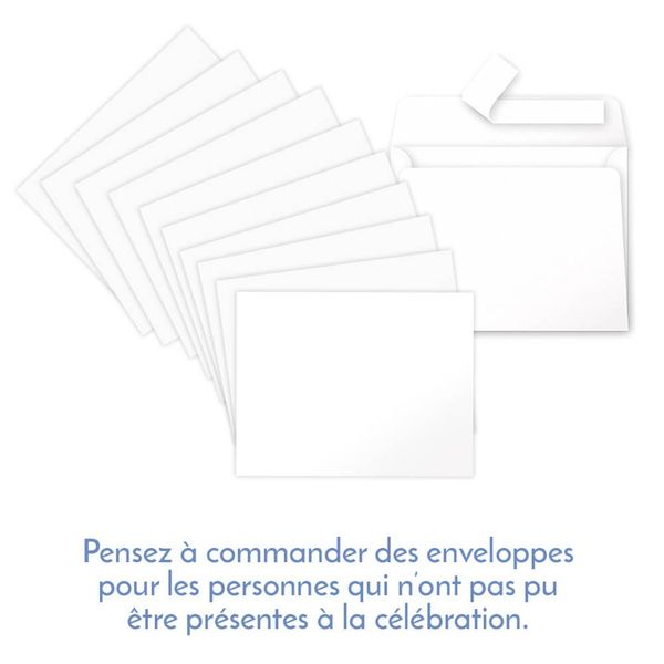 Carte de confirmation - bleu