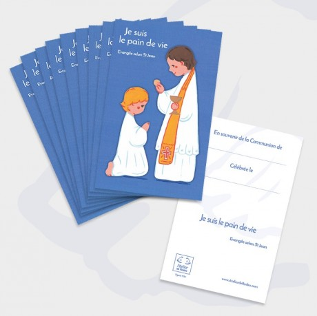 Carte de communion - bleue