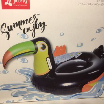 BOUEE GONFLABLE TOUCAN NOIR