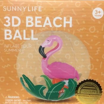 BALLON GONFLABLE 3D FLAMAND ROSE