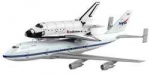 Space Shuttle Discovery W/NASA and Boeing 747 Carrier Aircraft