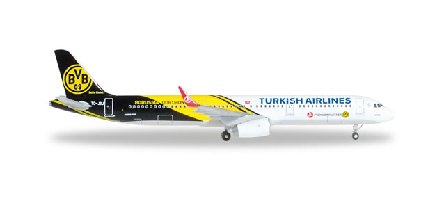 "Turkish Airlines Airbus A321 ""BVB 09 Borussia Dortmund"""