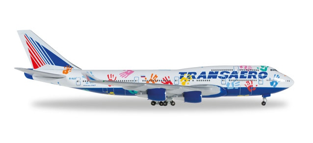 "Transaero Airlines Boeing 747-400 ""Flight of Hope"""