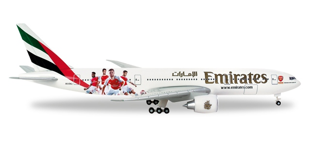 "Emirates ""Arsenal London""Boeing 777-200LR"
