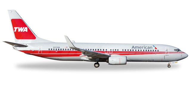American Airlines  Boeing 737-800 - TWA Heritage Livery