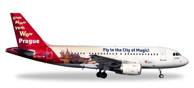 "CSA Czech Airlines Airbus A319 ""Prague - City of Magic"""