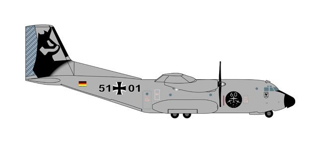 "Luftwaffe C-160 Transall - Air Transport Wing 61 ""60th Anniversary"""