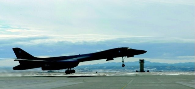 "U.S. Air Force Rockwell B-1B Lancer - 34th Bomb Squadron ""Thunderbirds"", 28th Bomb Wing, Ellsworth Air Base - ""The Last Laugh"" - 86-0115"