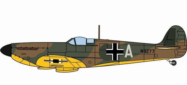 Spitfire MK.I - Luftwaffe captured aircraft (without Swastika)
